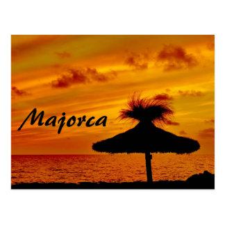 Coucher du soleil de Majorca - carte postale