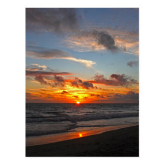Coucher du soleil de pilier de Huntington Beach Carte Postale