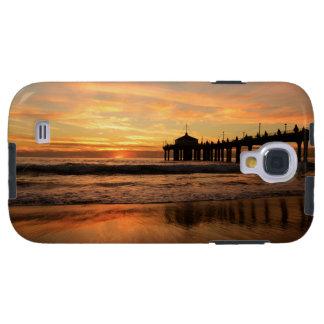 Coucher du soleil de plage de pilier coque galaxy s4