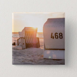 Coucher du soleil de Prerow Badge Carré 5 Cm