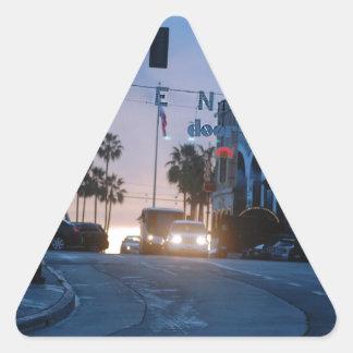 coucher du soleil de Venise Sticker Triangulaire