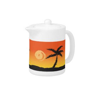 Coucher du soleil d'île
