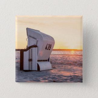 Coucher du soleil d'Ostsee Badge Carré 5 Cm