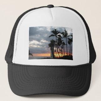 Coucher du soleil en Hawaï Casquette