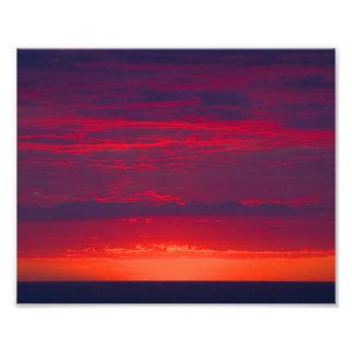 Coucher du soleil pourpre et orange abstrait photographes