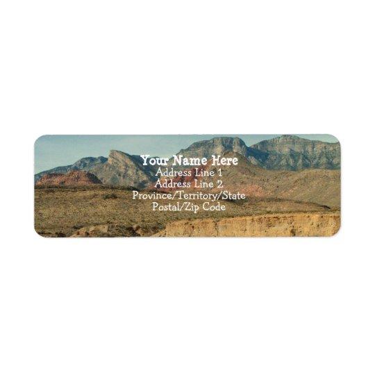 Couches de roche rouge étiquettes d'adresse retour