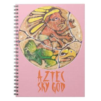 Couleur aztèque d'un dieu - carnet stupéfiant du