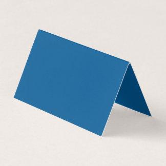 Couleur bleue charitablement influente carte de visite