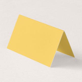 Couleur calme de jaune de moutarde carte de visite