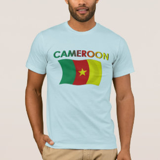 Couleur de drapeau du Cameroun tri T-shirt