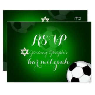 Couleur de la barre Mitzvah/DIY du football de Carton D'invitation 8,89 Cm X 12,70 Cm