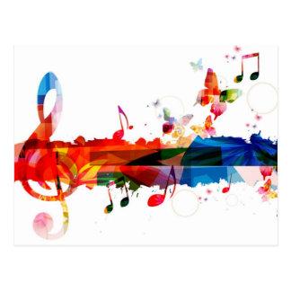 Couleur de la musique cartes postales