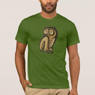 Couleur de symbole de hibou t-shirt
