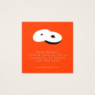 couleur de timbre de fidélité de bagels carte de visite carré