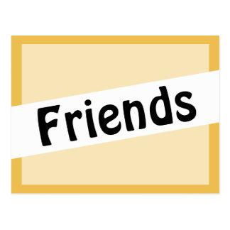 Couleur d'or de police de clochard d'amis carte postale