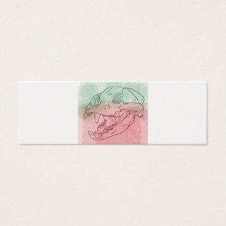 couleur pour aquarelle de crâne d'ours mini carte de visite