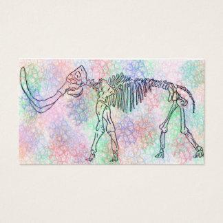 Couleur pour aquarelle squelettique gigantesque carte de visite standard