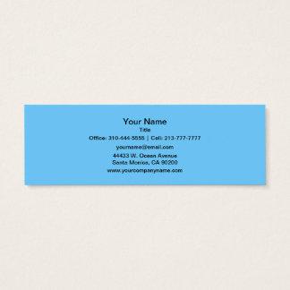 Couleur solide de bleu de ciel mini carte de visite