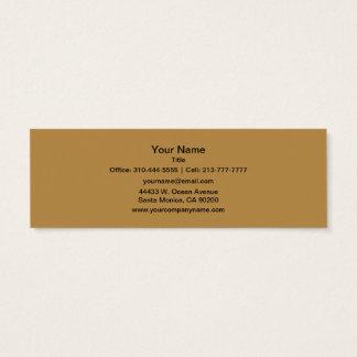 Couleur solide de miel de Brown Mini Carte De Visite