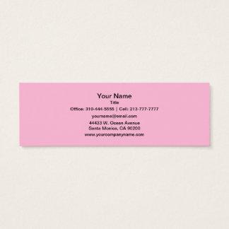 Couleur solide de sucrerie de coton mini carte de visite