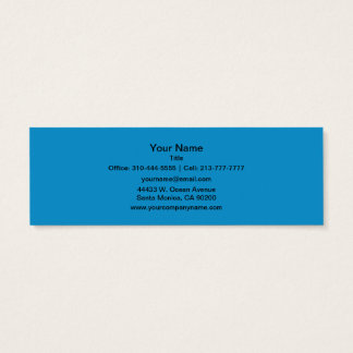 Couleur solide de topaze bleue mini carte de visite