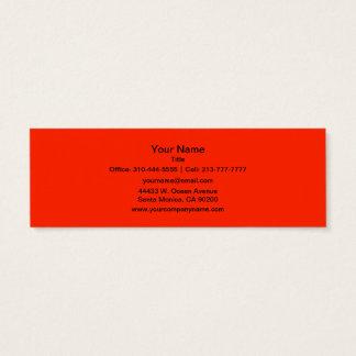 Couleur solide d'écarlate mini carte de visite