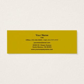 Couleur solide d'or mini carte de visite