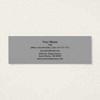 Couleur solide grise de Heather Mini Carte De Visite