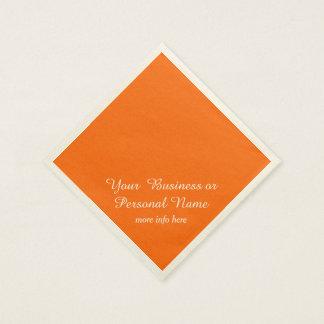 couleur solide orange au néon serviettes jetables