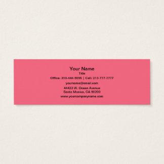 Couleur solide rose de pastèque mini carte de visite