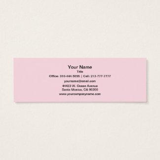 Couleur solide rose porcine mini carte de visite