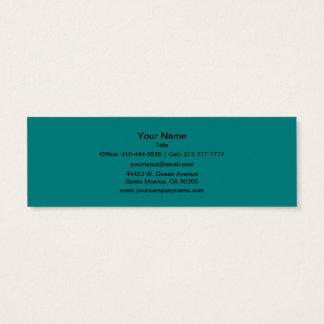 Couleur solide turquoise mini carte de visite