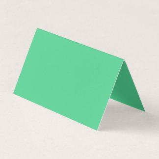 Couleur verte vaillamment généreuse carte de visite