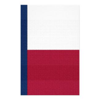 Couleurs bleues blanches rouges d'état solitaire prospectus 14 cm x 21,6 cm