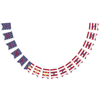 Couleurs de drapeau américain de typographie de