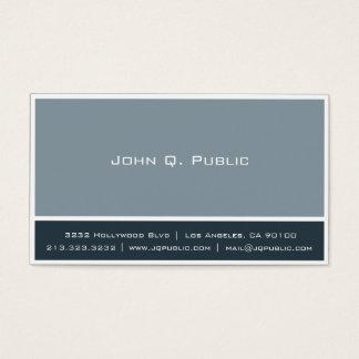 Couleurs de gris bleu avec la frontière blanche cartes de visite