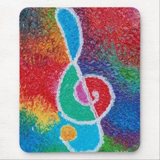 Couleurs de la musique Mousepad Tapis De Souris