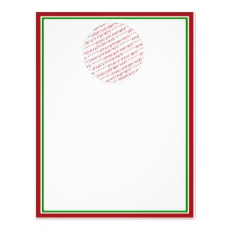 (Couleurs de Noël) modèle équilibré rouge et vert Prospectus 21,6 Cm X 24,94 Cm