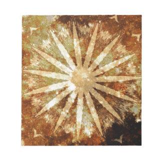 Couleurs d'or chaudes cosmiques de Brown d'univers Blocs Notes