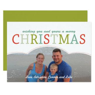 Couleurs modernes simples de carte de Noël de Carton D'invitation 12,7 Cm X 17,78 Cm