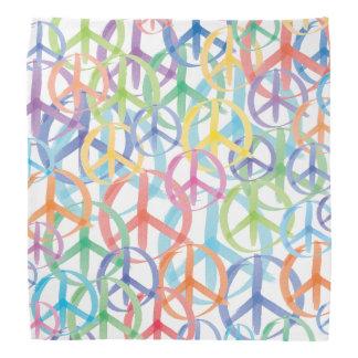 Couleurs multiples des symboles de paix bandana