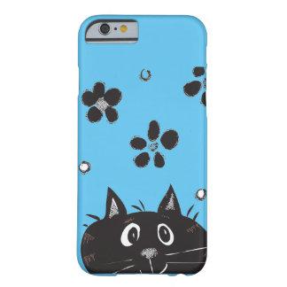 Coup d'oeil mignon un coque iphone de chat de huer