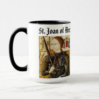 Coupé de tasse de Jeanne d'Arc de saint/Sainte
