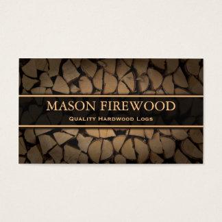 Coupez le carte de visite d'offre de bois de