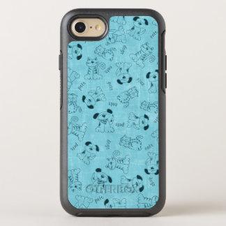 Coupez le motif animal bleu coque OtterBox symmetry iPhone 8/7