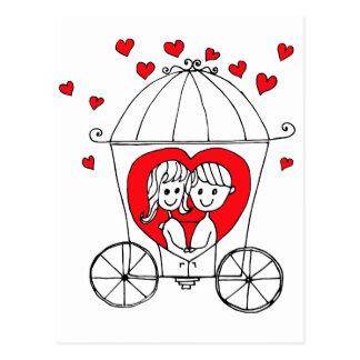 Couples d'amour cartes postales