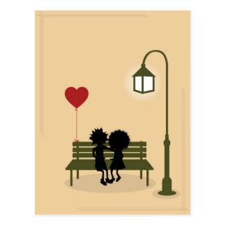 couples dans l'amour cartes postales