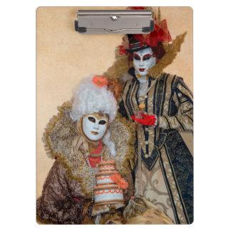Couples dans le costume de carnaval, Venise Porte-bloc