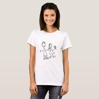 Couples de pair des amants dessinant le T-shirt