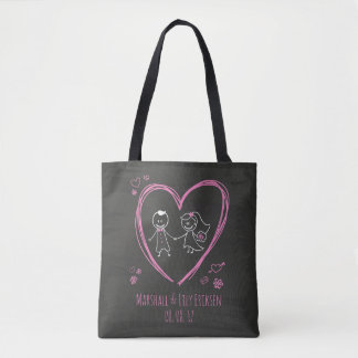 Couples mignons personnalisés épousant le sac